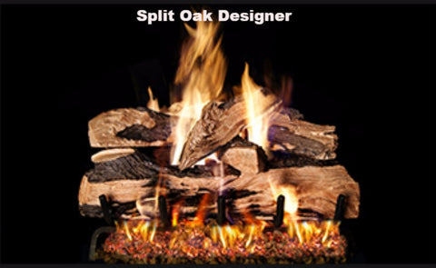 "Realfyre Vented Logs for G4, G45, G46 Series - Split Oak Designer - 20"" - SDP"