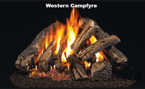 "Realfyre Vented Logs for G4, G45, G46 Series - Western Campfyre - 24"" - WCF"