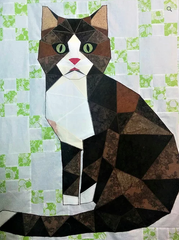 Look at This Face Cat Fractured Image by Yanicka Hachez