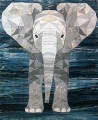 Elijah the Elephant Fractured Image by Yanicka Hachez