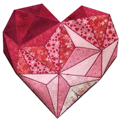 Heart's Desire free Fractured Image pattern and tutorial by Yanicka Hachez