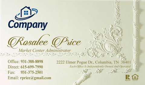 Basic business cards agentestore antique real estate card basic agentestore colourmoves Images