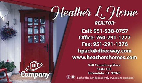 Red Door Real Estate Card - AGENTestore