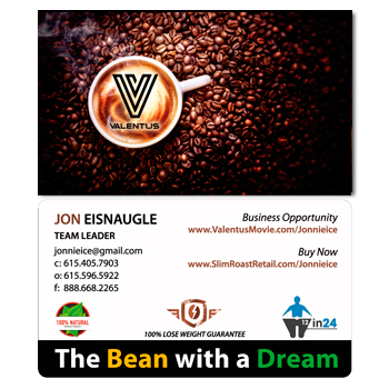 Valentus 'Bean with a Dream' card - AGENTestore