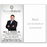 Vertical - Silver Stripes Real Estate Card - AGENTestore