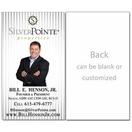 Vertical - Silver Stripes Real Estate Card-Vertical-AGENTestore