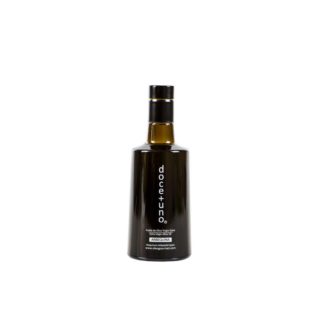doce + uno Extra Virgin Olive Oil 100% Arbequina 250 ml. Olijfolie - Spanish.nl