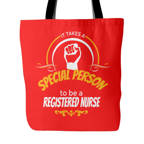 Registered Nurse Custom Tote Bags Proud RN Double Sided Print Long Shoulder Strap Polyester Poplin Women Men FREE SHIPPING