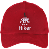 Custom Embroidered Hats 'I CAN'T KEEP CALM I'M A HIKER' 5 Panel Twill Cap Unisex Adjustable Velcro Closure