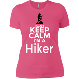 Women's Boyfriend Tees 'I Can't Keep Calm I'm a Hiker' Ladies T-Shirts Multiple Colors Free Shipping