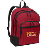 Custom Embroidered Basic Backpack Badass Hiker Collection Back-To-College Students Hiking Camping