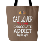 Cat Lover By Day Custom Tote Bags Double Sided Print Carry Shoulder Long Strap