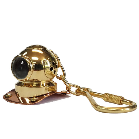 Brass/Copper Mark V Helmet Key Chain