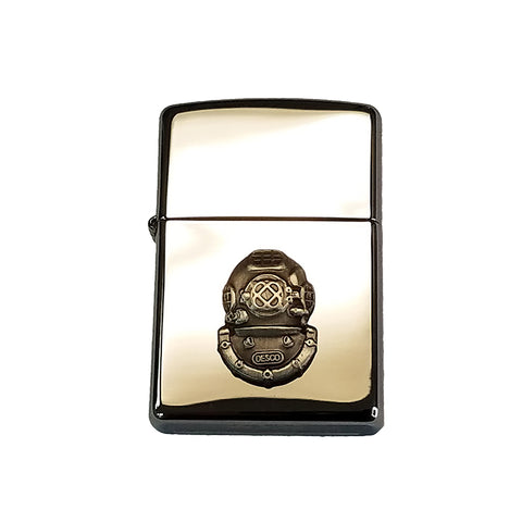 Zippo Lighter with Mark V Helmet Logo - Chrome