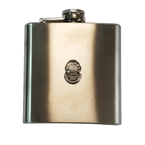 Mark V Logo 6 oz Stainless Steel Flask