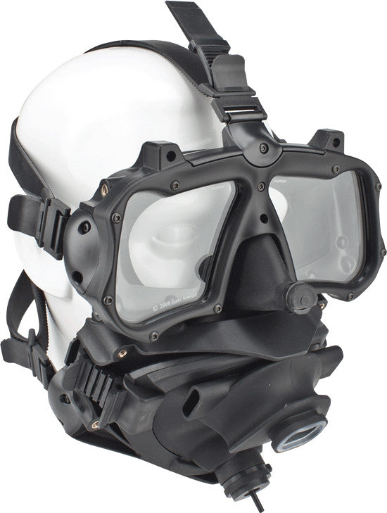 Kirby Morgan M-48 Mod-1 Full Face Diving Mask, With SCUBA Tilt to Purge Pod, Without Regulator