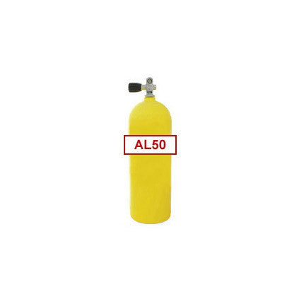 50 cu ft Yellow Commercial Diving Bailout Bottle Aluminum Tank