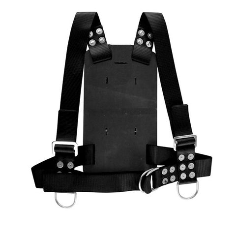 Miller Diving Black Adjustable Backpack Harness - Size X-Large