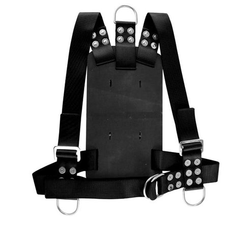 Miller Diving Black Adjustable Bell Backpack Harness - Size Medium