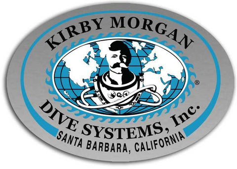 Kirby Morgan KMDSI Small Oval Sticker