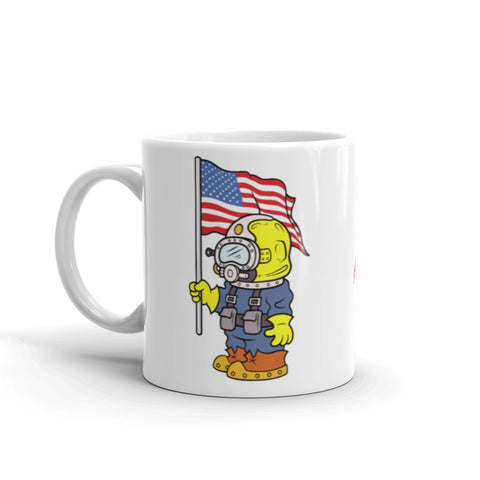 American Diving Supply 11 oz Patriot Coffee Mug