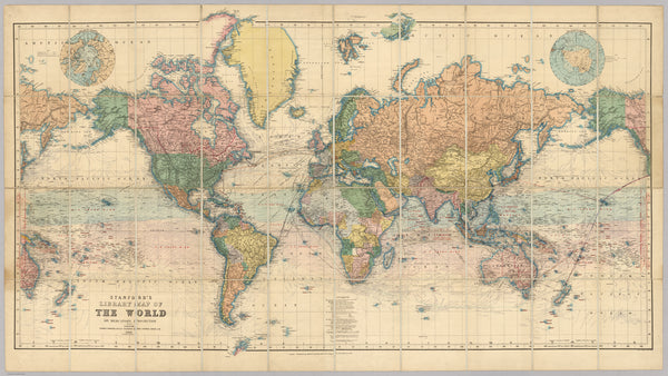 Restoring Stanford\'s Library Map Of The World – AncientShades