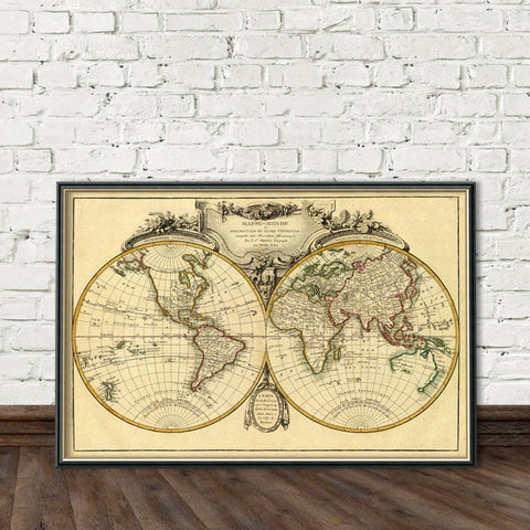 Vintage and historical maps fine prints for wall decoration ...