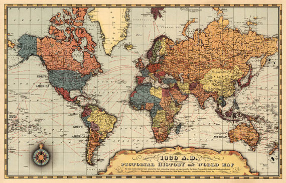 Map Of World 1939.Historical Map Of The World Before Starting Of The Wwii Ancientshades