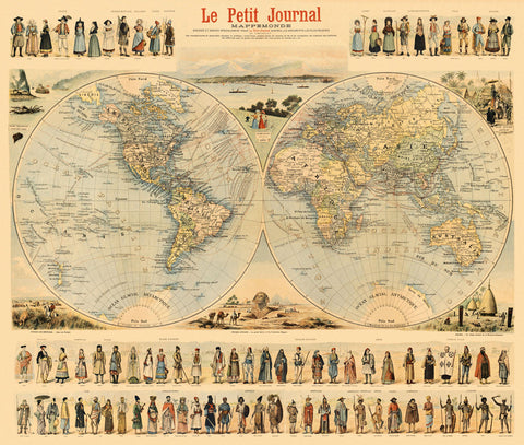 Historical map of the world before starting of the wwii ancientshades antique illustrated world map decorative old map of the world gumiabroncs Gallery
