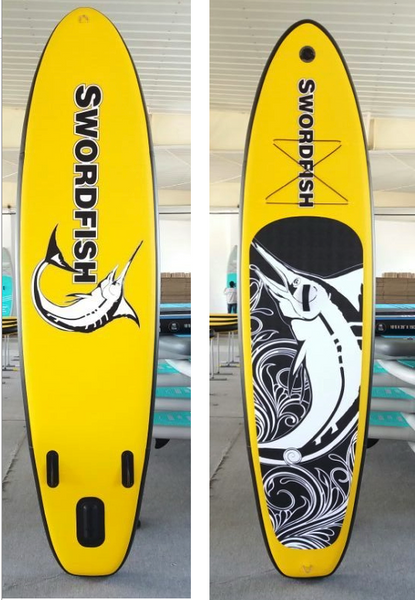 "SWORDFISH Inflatable ""Stand-Up Paddleboard"" with Hand pump and paddle"