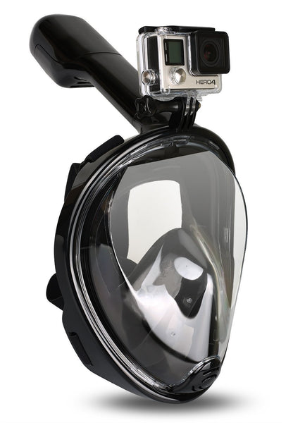"SWORDFISH 180-degree ""Full Face Snorkel Mask"" with GoPro attachment"