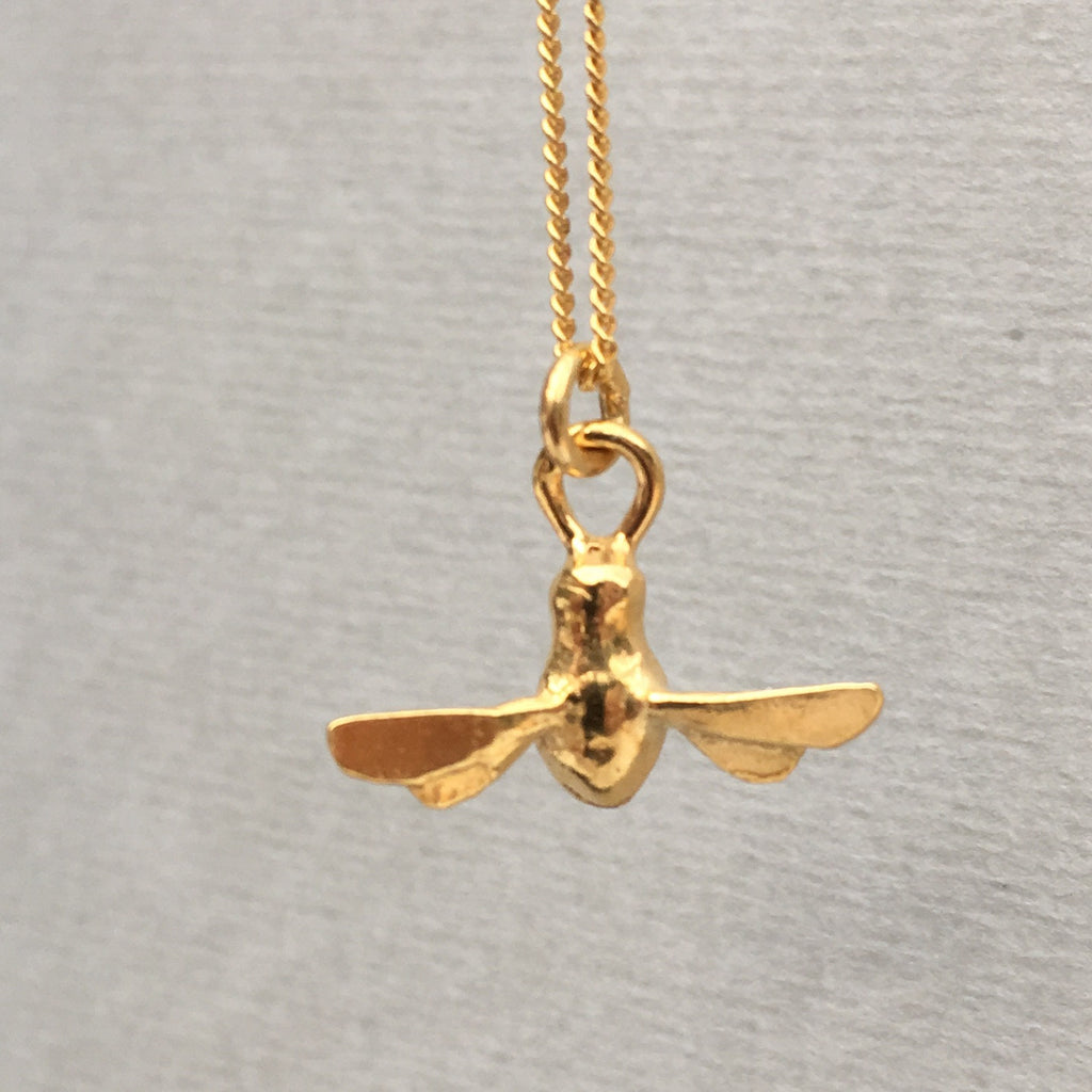 By Emily Gold Bee Mine Necklace e1imn