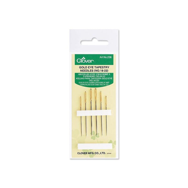 Clover Gold Eye Tapestry Needle No. 18-22