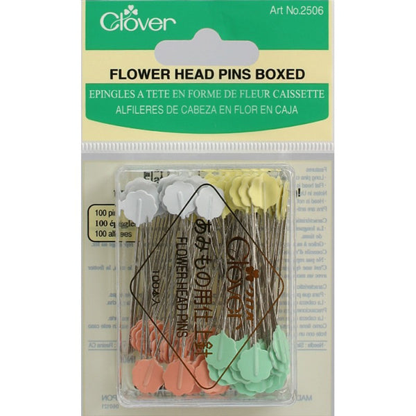 Clover Flower Head Pins Boxed 100 Count