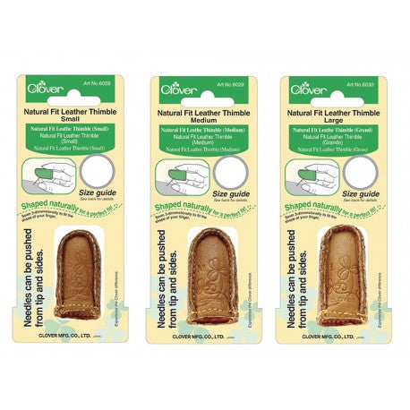 Clover Natural Fit Leather Thimbles