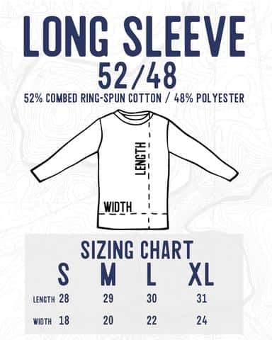Long sleeve sizing chart