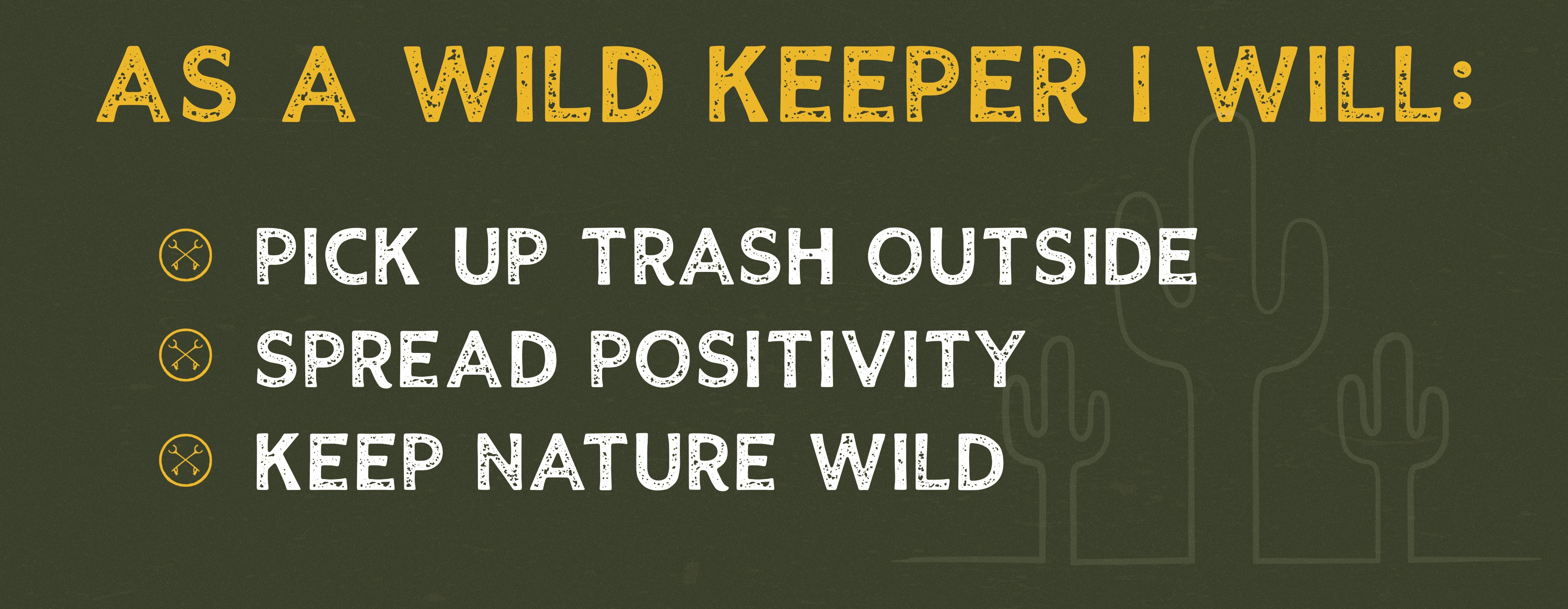 Keep Nature Wild Wild Keepers Pledge