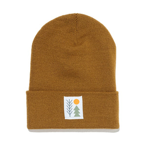 Evergreen Cuffed Beanie | Camel