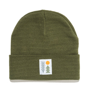Evergreen Cuffed Beanie | Olive