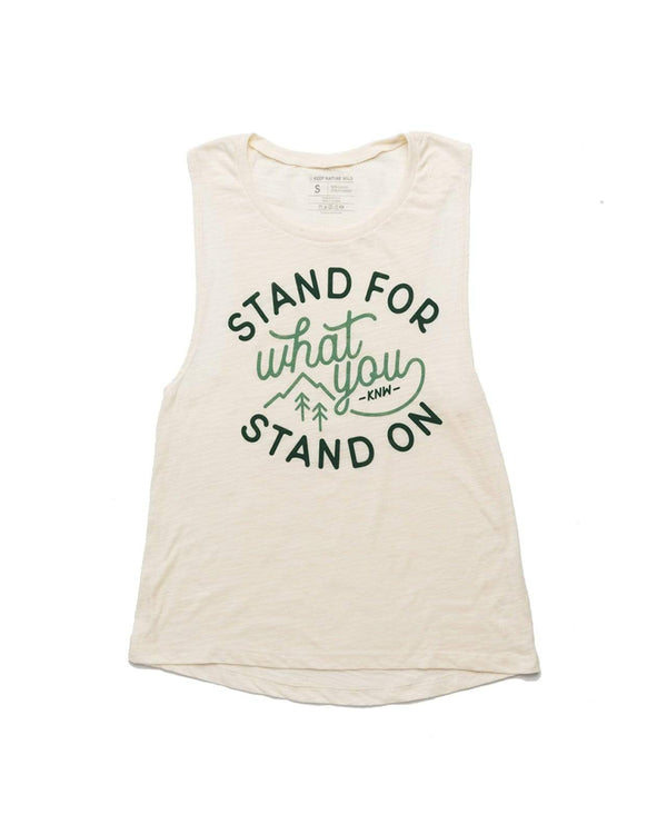 Stand For Muscle Tank | Natural - Keep Nature Wild