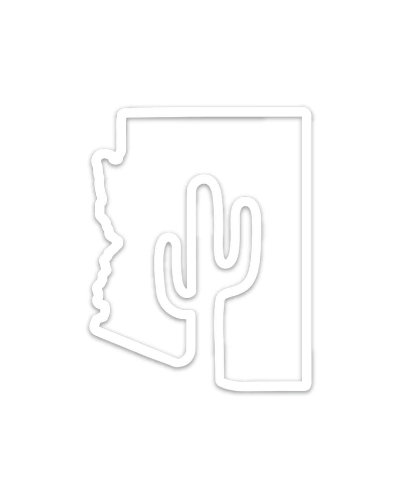 Arizona Outline | White Decal - Keep Nature Wild