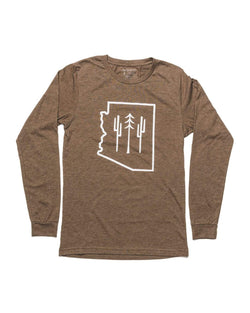 Arizona Wilderness Unisex Long Sleeve | Heather Brown - Keep Nature Wild
