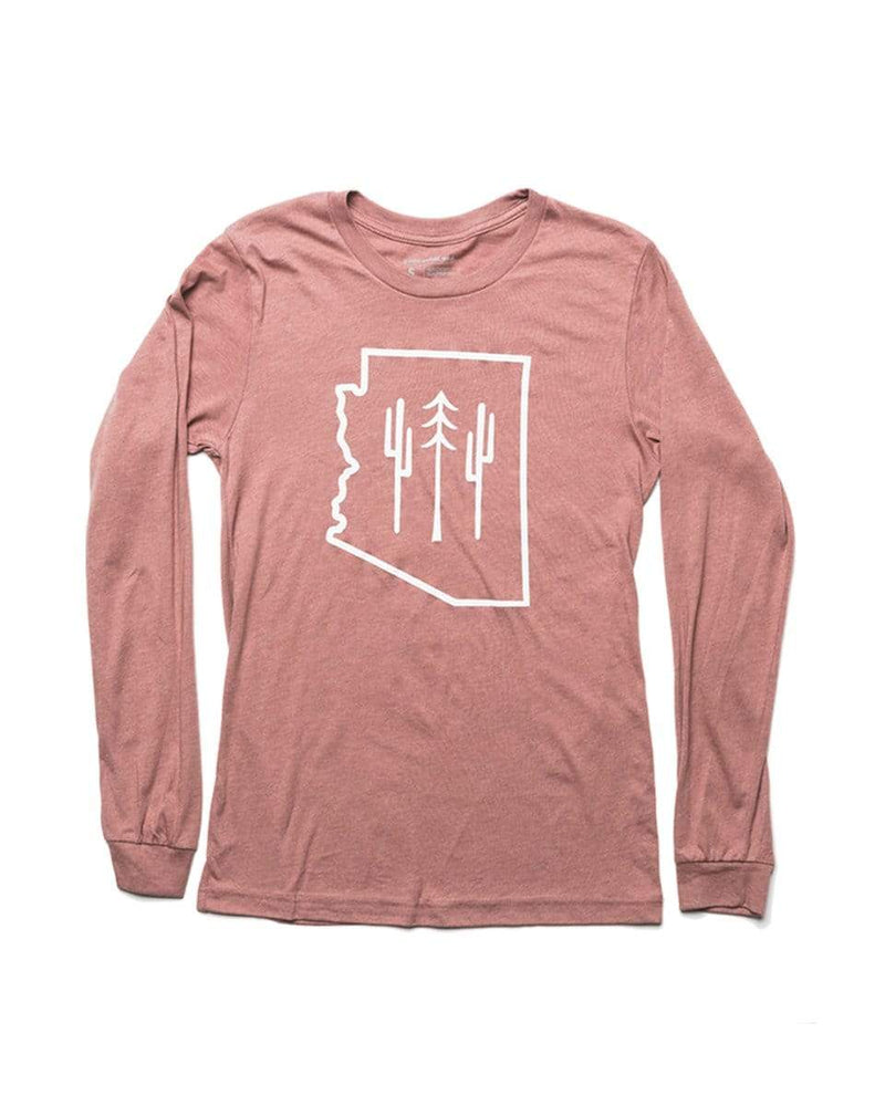Arizona Wilderness Unisex Long Sleeve | Heather Mauve - Keep Nature Wild