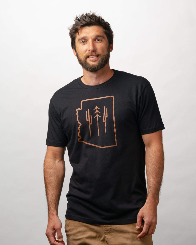 Arizona Wilderness Unisex Tee | Black & Copper - Keep Nature Wild