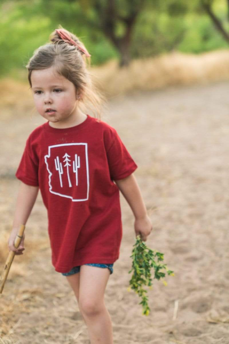 AZ Wilderness Ember Red | Youth Tee - Keep Nature Wild