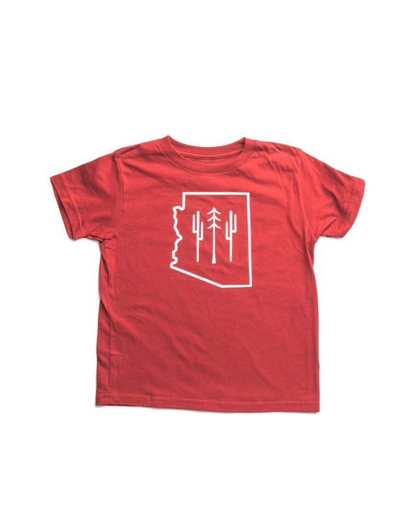 AZ Wilderness Toddler Tee | Deep Red - Keep Nature Wild