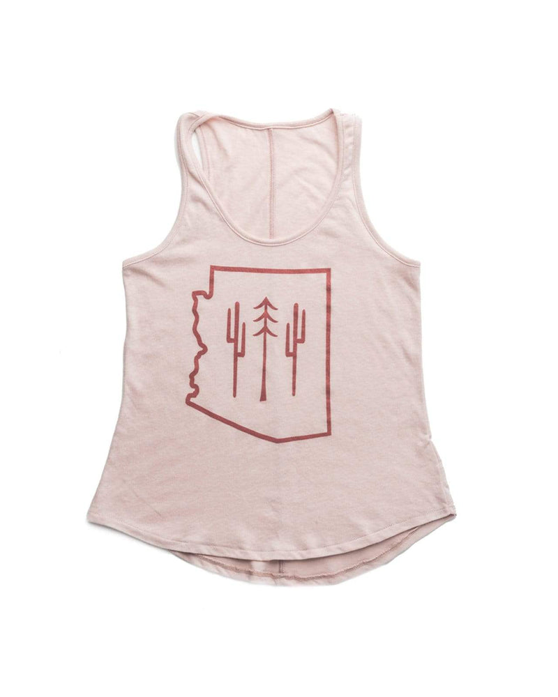 AZ Wilderness Women's Racerback Tank | Pink Cloud - Keep Nature Wild