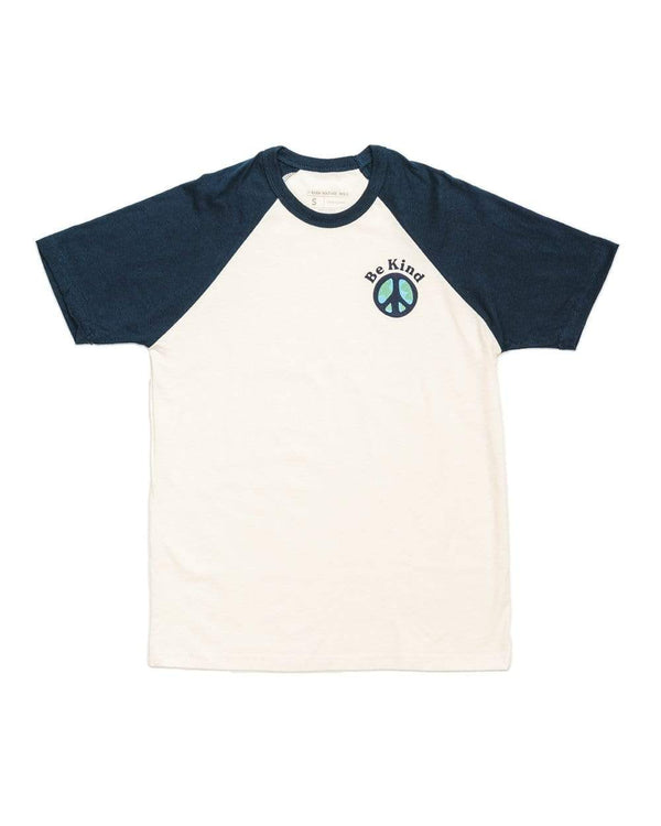 Keep Nature Wild Tee Be Kind Unisex Raglan Tee | Cream/Navy