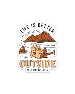 Better Outside | Sticker - Keep Nature Wild