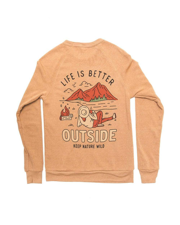 Better Outside Unisex Pullover | Camel - Keep Nature Wild